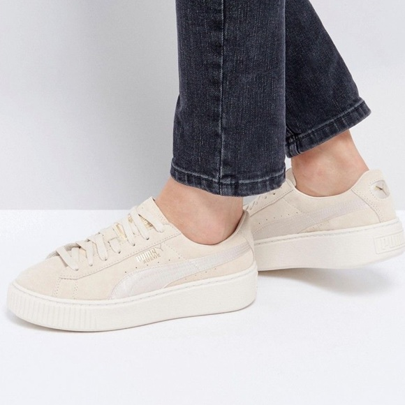 Puma Shoes   Suede Platform Sneakers
